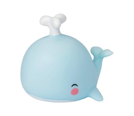 A Little Lovely Company Table lamp Whale blue 10,8x10,8x13cm