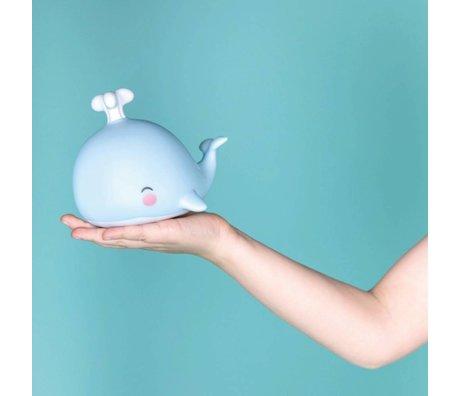 A Little Lovely Company Kinderlampje walvis blauw 10,8x10,8x13cm