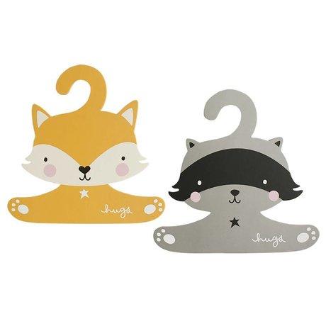 A Little Lovely Company Children's clothing set raccoon & fox 27,4x27,6cm