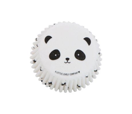 A Little Lovely Company Cupcake molds panda 7x3x7cm set of 50