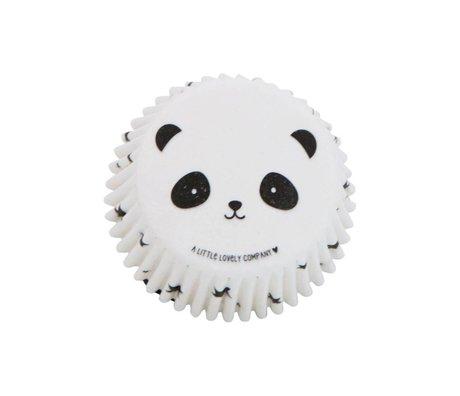 A Little Lovely Company Cupcake vormpjes panda 7x3x7cm set van 50