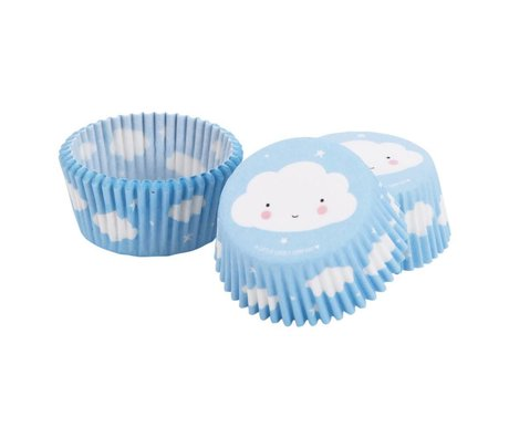 A Little Lovely Company Cupcake shapes Cloud 7x3x7cm set of 50