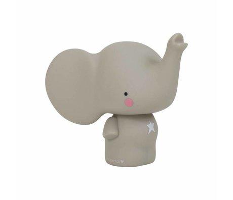 A Little Lovely Company Kinder spaarpot olifantje grijs pvc 12,5x16,2x15 cm
