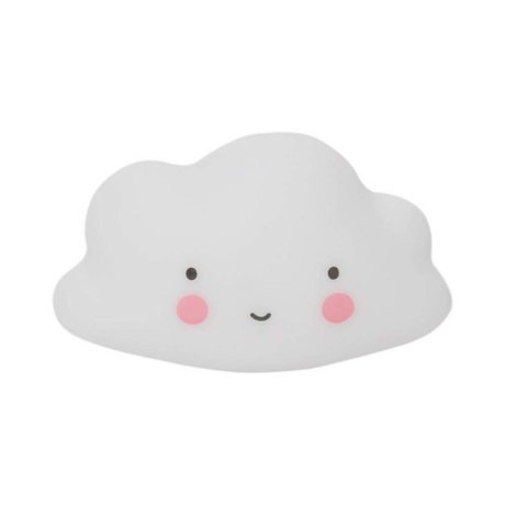 A Little Lovely Company Bath Toy Cloud white PVC 9.5x5.5x5cm