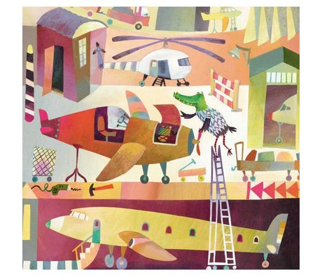 KEK Amsterdam Kinderbehang Airport multicolor non-woven paper 292.2 x 280 (6 sheets)