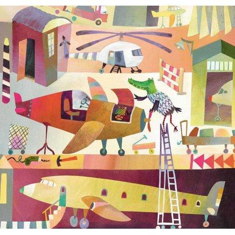 KEK Amsterdam Kinderbehang Airport multicolor vliespapier 292.2 x 280 (6 sheets)