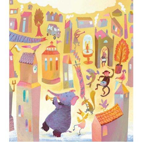 KEK Amsterdam Kinderbehang Parade multicolor vliespapier 243.5 x 280 (5 sheets)