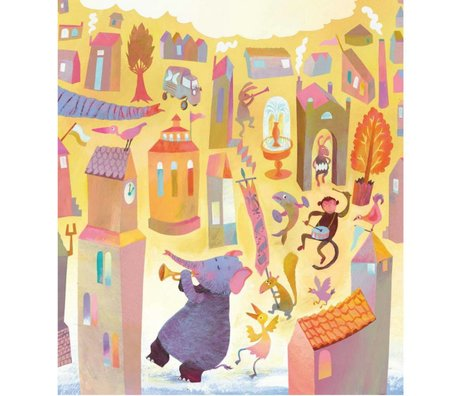 KEK Amsterdam Children wallpaper Parade multicolor non-woven paper 292.2 x 280 (6 sheets)