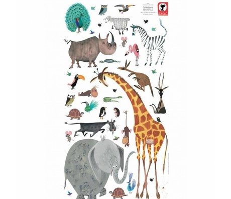 KEK Amsterdam Kindermuurstickers Animals (XL) multicolour vinyl 97 x 180