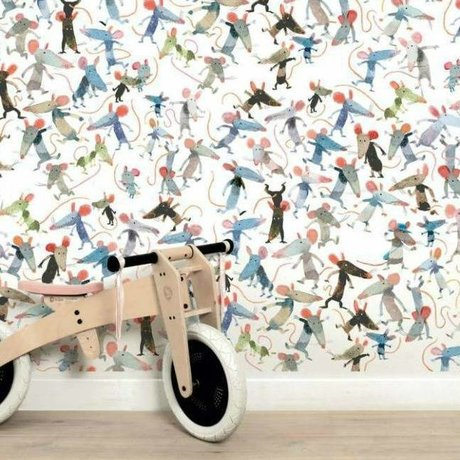 KEK Amsterdam Kinderbehang Little mice multicolor vliespapier 389.6 x 280 (8 sheets)