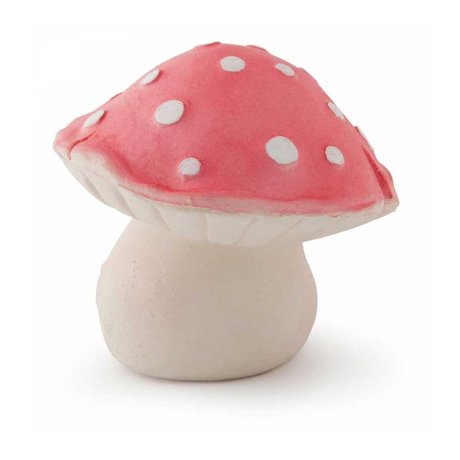 Oli & Carol Bath Toy Forest mushroom red natural rubber10x8cm