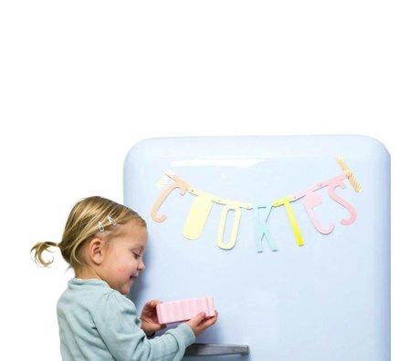 A Little Lovely Company Kinderslinger letter banner pastel 5x10cm