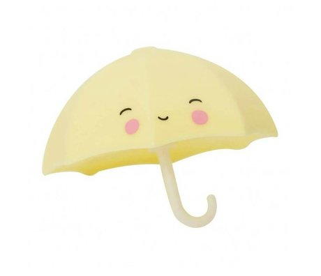 A Little Lovely Company Bath Toy Umbrella yellow pvc 9x7x9cm