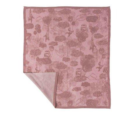 Sebra Children's blanket in the sky pink cotton 100x85cm