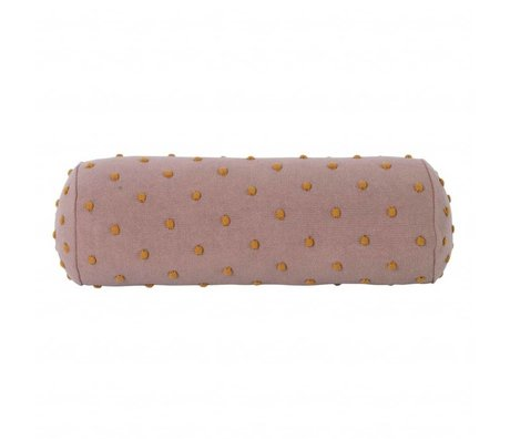 Ferm Living kids Children's pillow Popcorn Bolster pink cotton 50x18x18cm