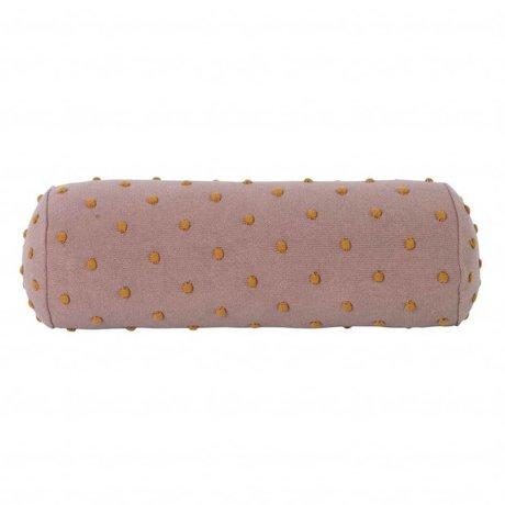 Ferm Living kids Kinderkussen Popcorn Bolster roze katoen 50x18x18cm