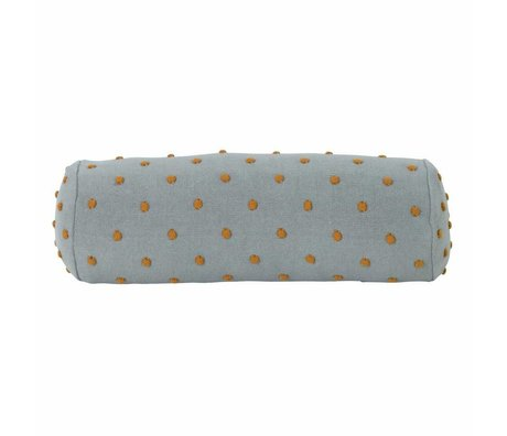 Ferm Living kids Children's pillow Popcorn Bolster mint green cotton 50x18x18cm