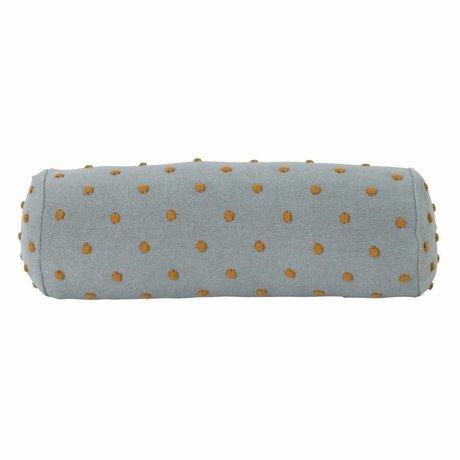 Ferm Living kids Kinderkussen Popcorn Bolster mintgroen katoen 50x18x18cm