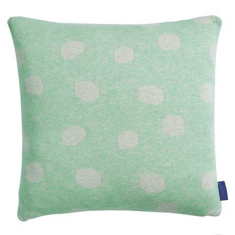 OYOY Children cushion Smilla mint green light gray cotton 40x40cm