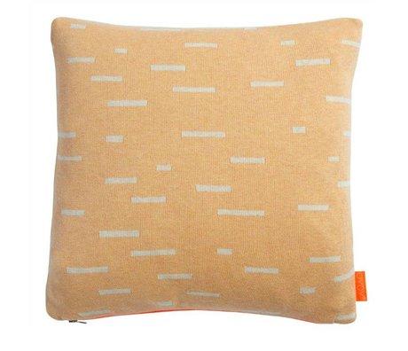 OYOY Children's Pillow Smilla orange light gray cotton 40x40cm