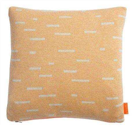 OYOY Kinderkussen Smilla oranje licht grijs katoen 40x40cm