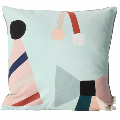 Ferm Living kids Children's pillow Party mint green textile 40x40cm