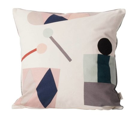 Ferm Living kids Children's pillow Party broken white textile 40x40cm