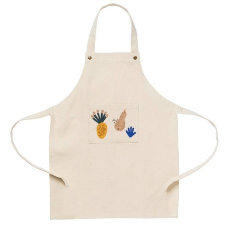 Ferm Living kids Children's apron Fruiticana white organic cotton 45x56cm