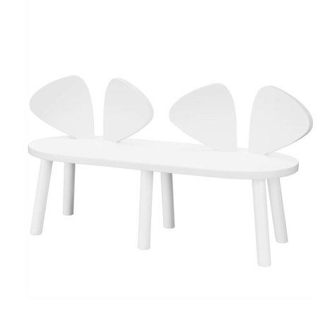 NOFRED Children's bench Mouse white wood 45x80x28cm