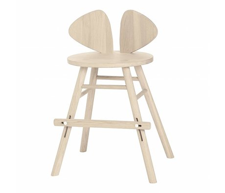 NOFRED Children's stool high Mouse natural brown wood 40,3x53x32,8cm