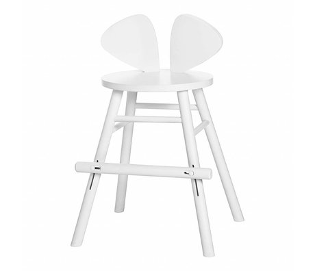 NOFRED Children's stool high Mouse white wood 40,3x53x32,8cm
