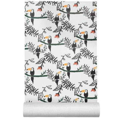 NOFRED Kinderbehang Tucan multicolour vliesbehang 50x62,19cm