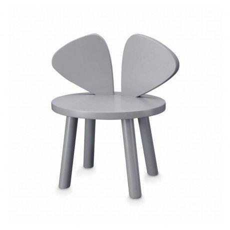 NOFRED Kinderstoeltje Mouse grijs hout 35x45x28cm