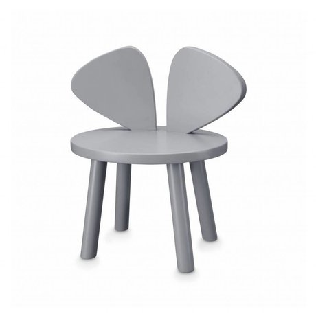 NOFRED Toddler chair Mouse gray wood 35x45x28cm