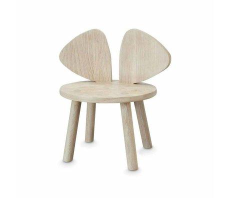 NOFRED Kinderstoeltje Mouse naturel hout 35x45x28cm
