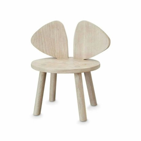 NOFRED Child's chair Mouse natural wood 35x45x28cm
