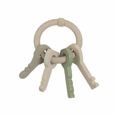 NOFRED Houten speelsleutels Harbour keys mint groen