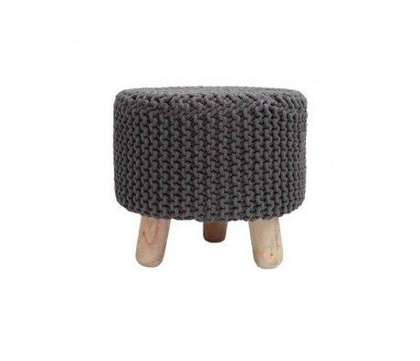LEF collections Kinderkrukje Kota donker grijs katoen hout 40x40cm