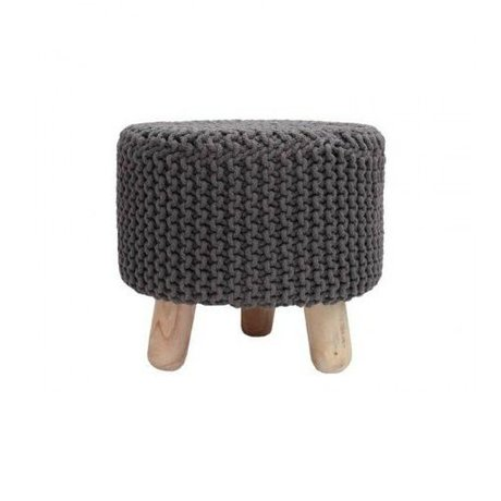 LEF collections Children's stool Kota dark gray cotton wood 40x40cm