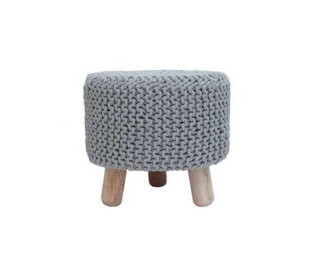 LEF collections Children's stool Kota light gray cotton wood 40x40cm