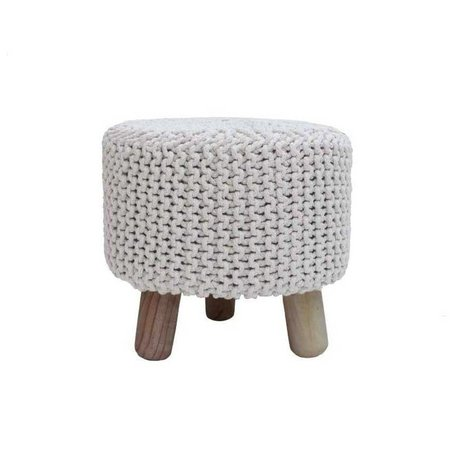 LEF collections Stool kota natural brown cotton wood Ø40x40cm