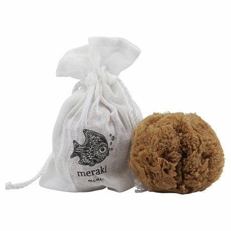 Meraki mini Zee spons bruin 8-12cm