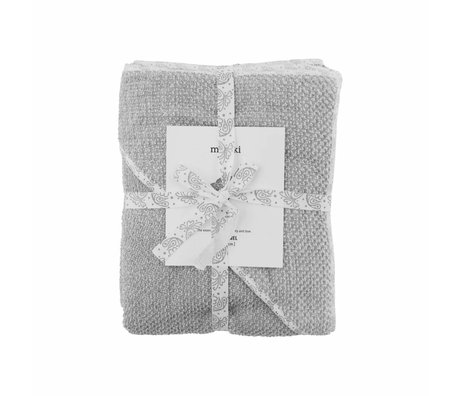 Meraki mini Baby bath towel gray organic cotton 80x80cm