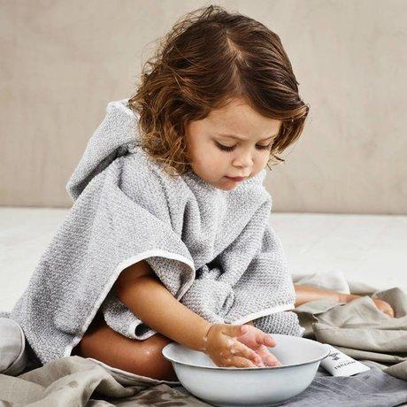Meraki mini Pocho handdoek grijs organisch katoen 60x60cm