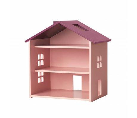 NOFRED Dollhouse Harbor pink MDF 34x23,5x39,3cm