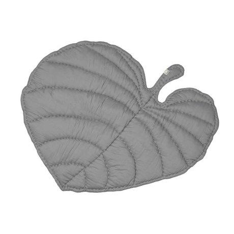 NOFRED Kinderdeken Leaf grijs organisch katoen 110x125cm