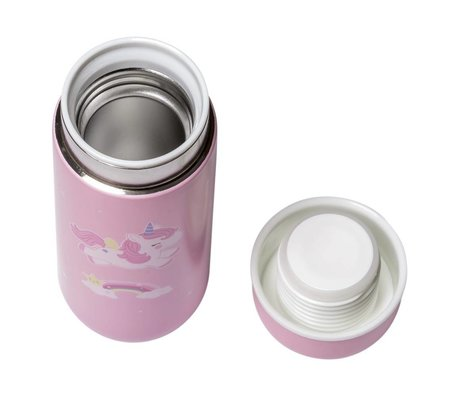 A Little Lovely Company Drinking bottle unicorn pink stainless steel ø6,5x16,7cm