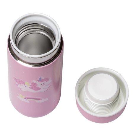 A Little Lovely Company Drinkfles unicorn roze RVS ø6,5x16,7cm