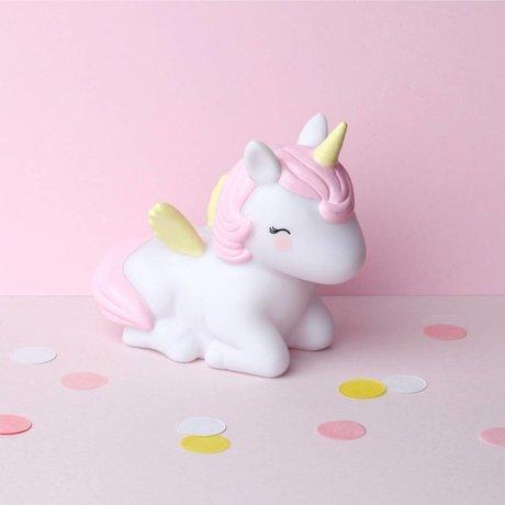 A Little Lovely Company Money box Unicorn multicolour PVC 8,6x13,7x15,4cm