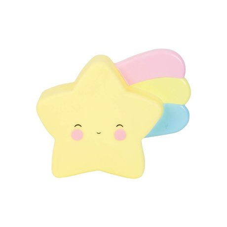 A Little Lovely Company Child money box Shooting star yellow PVC 17,5x15x6cm